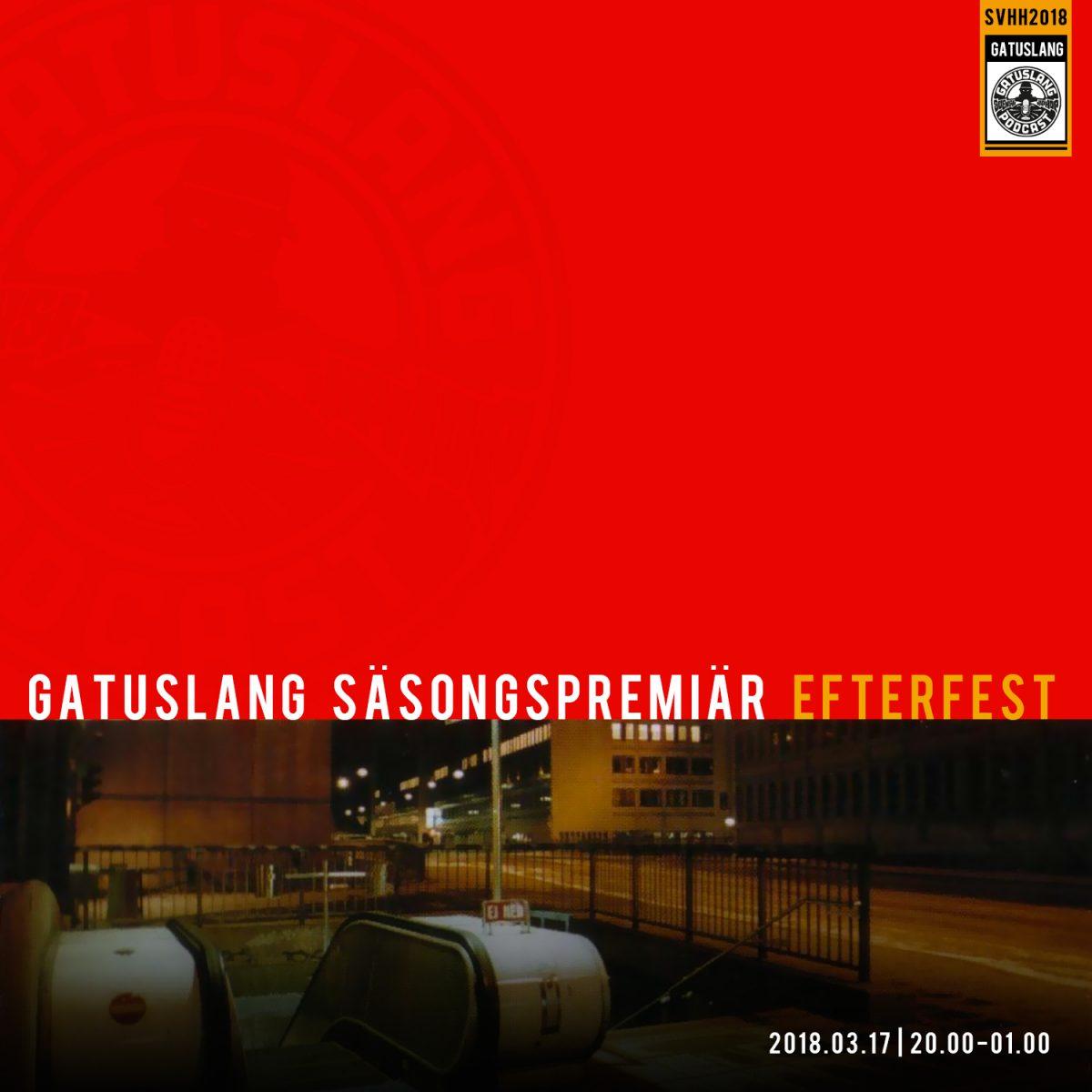 Gatuslang säsongspremiär och efterfest på Swedish Brewing!